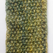 "Load image into Gallery viewer, ""Meadow"" Hand Knit Twisted Infinity Scarf was created with Berroco Air blown bulky weight yarn in Geothermal colorway, detail."
