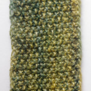 """Meadow"" Hand Knit Twisted Infinity Scarf was created with Berroco Air blown bulky weight yarn in Geothermal colorway, detail."
