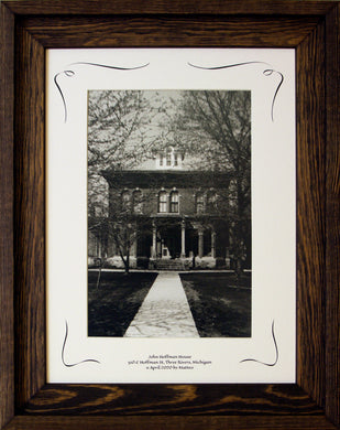 Three Rivers Series, John Hoffman House Framed COA Rooster #299692 Image.