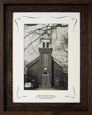 Three Rivers Series, Old St. John's Lutheran Church Framed COA Rooster #299691 Image.