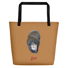 Oyster Shell Large Tote Bag - Camel image.