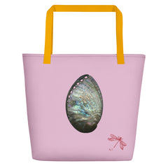 Abalone Shell Large Tote Bag - Orchid image.