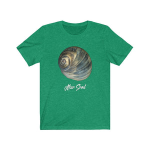 Moon Snail Shell Blue Unisex Jersey Short Sleeve T-shirt
