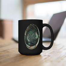 Load image into Gallery viewer, Abalone Shell Black Ceramic Mug 15oz