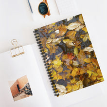 Load image into Gallery viewer, Floating Leaves Spiral Notebook - Ruled Line