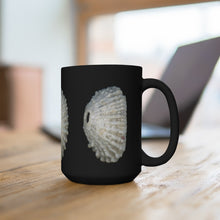 Load image into Gallery viewer, Keyhole Limpet Shell White Black Ceramic Mug 15oz