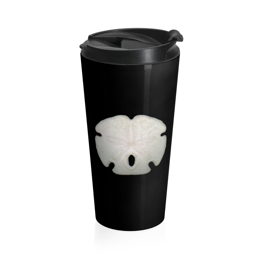 Arrowhead Sand Dollar Black Stainless Steel Travel Mug