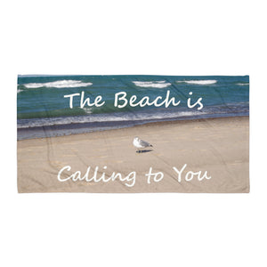 """The Beach is Calling to You"" Beach Gym Yoga Towel"