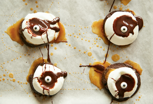 Chocolate Caramel S'more Cookie Monsters