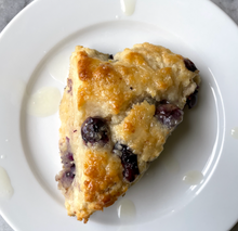 Load image into Gallery viewer, Lemon & Blueberry Scones with Lemon Glaze