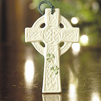 Belleek Celtic Cross Ornament