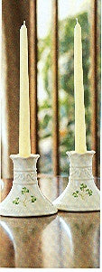 Belleek Tara Candlesticks Pair