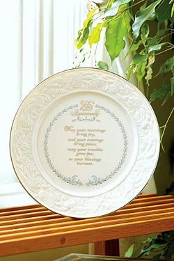 Belleek 25th Anniversary Plate