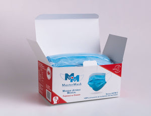 *CALGARY LOCAL PICKUP/DROP ONLY* MASTERMASK: 3-PLY MEDICAL GRADE ASTM LEVEL 3 SURGICAL MASK - CANADIAN MADE - 50 PACK