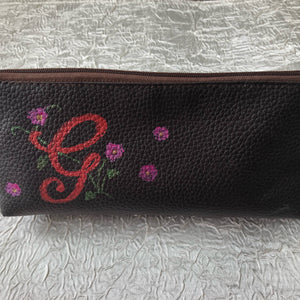 Personalized leather pencil case