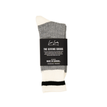 Load image into Gallery viewer, The Made in Canada Giving Socks - Black Stripe 🇨🇦