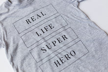 Load image into Gallery viewer, Real Life Superhero -Toddler T-shirt - Light Grey