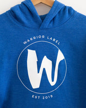 Load image into Gallery viewer, Warrior Label Logo - Youth Hoodie - Heather Royal