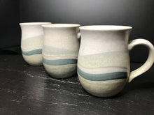 Load image into Gallery viewer, Vintage Ocean Wave Pottery Teacup