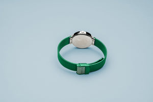 Bering Ladies Special Edition Watch, Green Mesh Strap