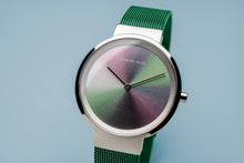 Load image into Gallery viewer, Bering Ladies Special Edition Watch, Green Mesh Strap