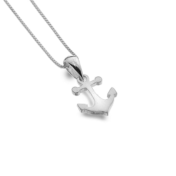 Sterling Silver Anchor Pendant and Chain