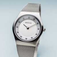 Bering Classic  Brushed Silver Ladies Watch 11927-000