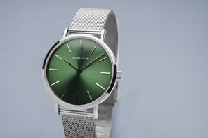 Bering Classic Round Dial Emerald Green Watch 14134-008