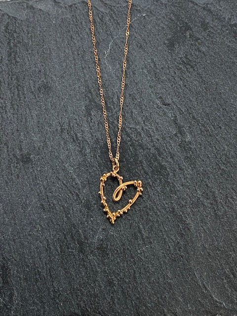 Handmade Rose Gold 18ct 'Bobble' Heart