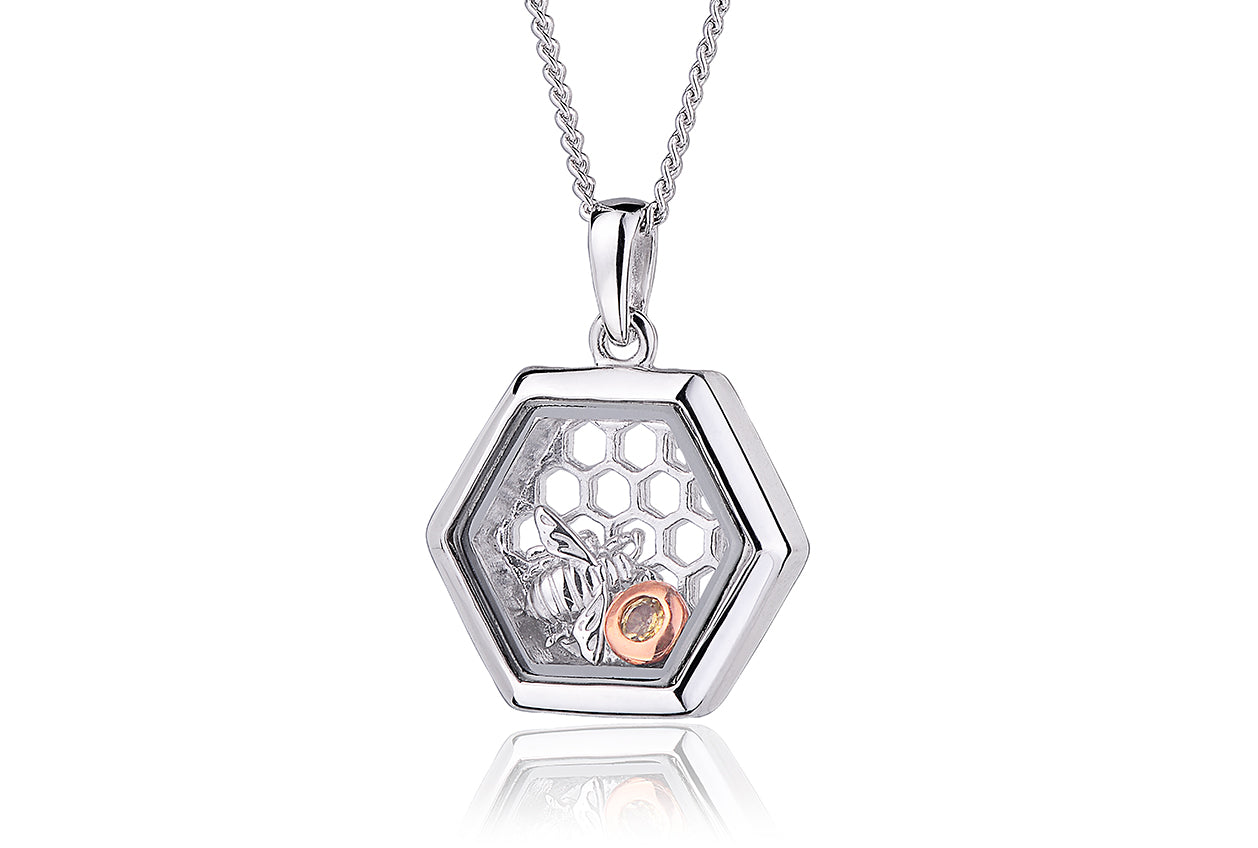 Clogau Honey Bee Inner Charm Necklace
