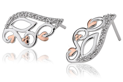 Clogau Masque Earrings With White Topaz