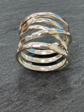 Load image into Gallery viewer, Sterling Silver Wrap Around Hammered Ring