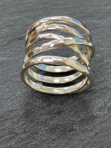 Sterling Silver Wrap Around Hammered Ring