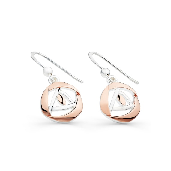 Sterling Silver & Rose Gold Mackintosh Drops