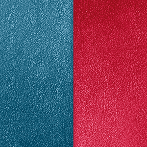 Petrol blue / Raspberry leather