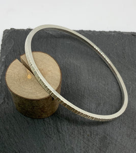 Sterling Silver Oval Bangle Made by James