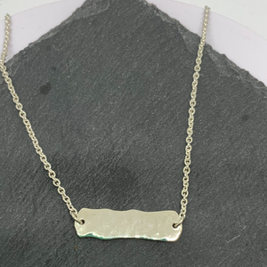 Sterling silver Hammered Bar necklace