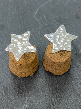 Load image into Gallery viewer, Hammered Sterling Silver Star Stud Earrings