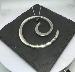 Sterling Silver Swirl Pendant with Chain