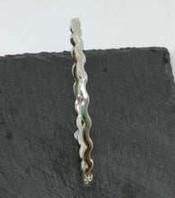 Load image into Gallery viewer, Sterling Silver Wavy Bangle Handmade by James