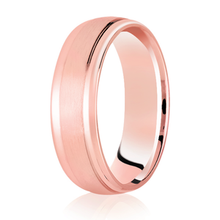 Load image into Gallery viewer, Brushed Centre Court Band with Half round diamond cut edge