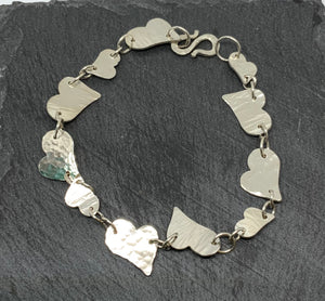 Sterling Silver Heart Bracelet made by James