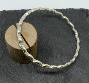 Sterling Silver Wavy Bangle Handmade by James