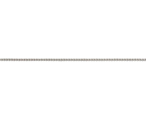 "9ct White Gold 20"" Spiga Chain"
