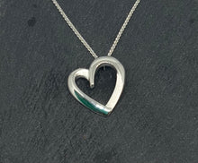 Load image into Gallery viewer, Sterling Silver Heart Shaped Pendant with Chain