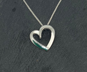 Sterling Silver Heart Shaped Pendant with Chain