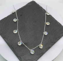 Load image into Gallery viewer, Sterling Silver Necklace with Cubic Zirconia