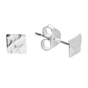 Sterling Silver Small Textured Stud