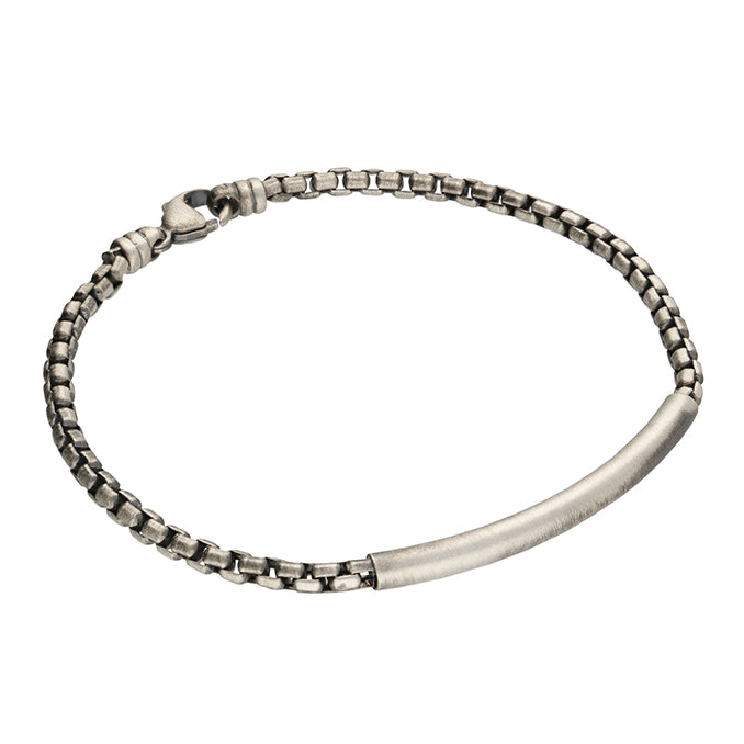 Men's Sterling Silver Box Chain  Bracelet