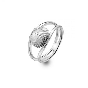 Scallop Shell Ring in Sterling Silver